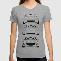 MX-5/Miata Generations Womens Fitted Tee Athletic Grey SMALL