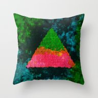Triangle Paint II Throw Pillow