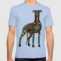 greyhound orange Mens Fitted Tee Tri-Blue SMALL