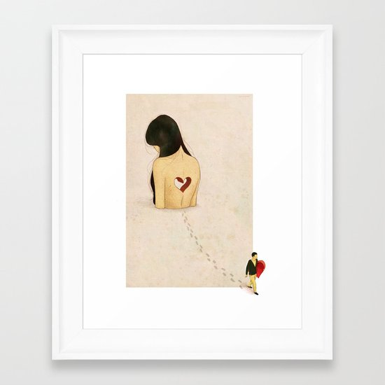 """you stole my heart away"" Framed Art Print"