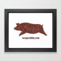 Beagle's BBQ Framed Art Print