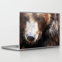 bear Laptop & iPad Skins featuring Bear // Gold by Amy Hamilton
