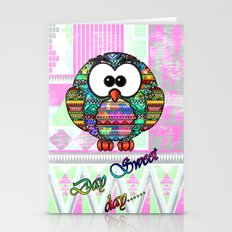 Owl aztec tribal best design  Stationery Cards