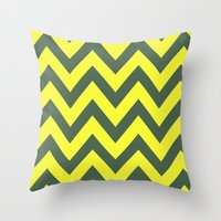 SIC 'EM CHEVRON Throw Pillow