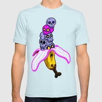 Death By Banana Mens Fitted Tee Light Blue SMALL