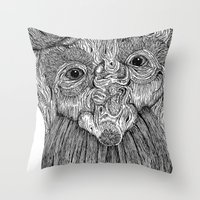 Tree Person Throw Pillow