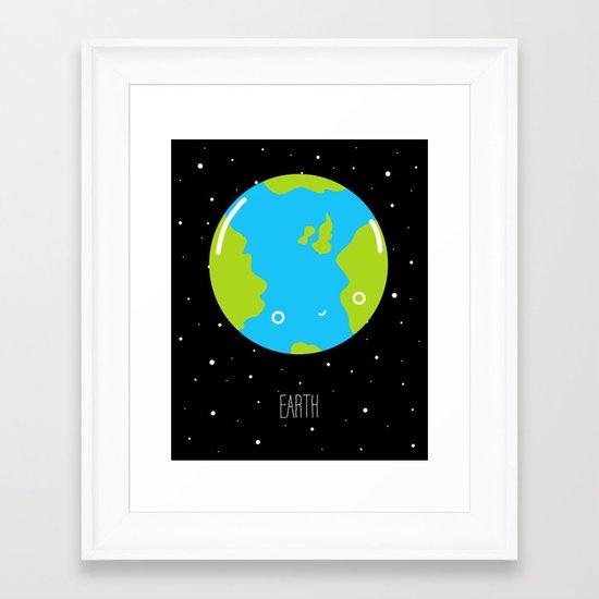 The Earth Framed Art Print