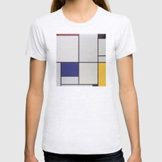 Piet Mondrian - Tableau I Womens Fitted Tee Ash Grey SMALL