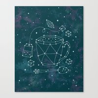 Tea Time Constellation Canvas Print