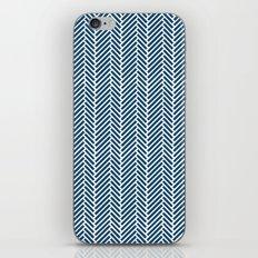 Herringbone Navy Inverse iPhone & iPod Skin