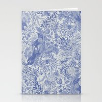 Crow Pattern Stationery Cards