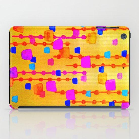 POLKA DOT MATRIX - Bright Bold Cheerful Dotty Geometric Squares Circles Abstract Watercolor Painting iPad Case