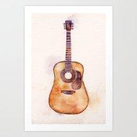 Martin Guitar Art Print