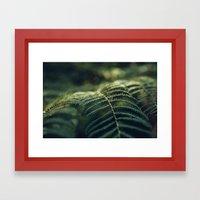 Green and Golden Framed Art Print