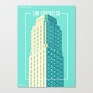 Towers Of San Francisco … Canvas Print