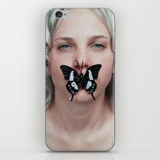 Butterfly girl iPhone & iPod Skin