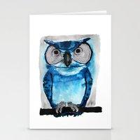 Blue Owl Stationery Cards