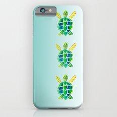 Swimming Baby Sea Turtles Slim Case iPhone 6s