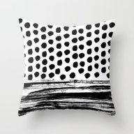 Zoe - Black And White Do… Throw Pillow