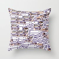 content-aware missingno Throw Pillow