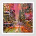 traffic jam pink Art Print