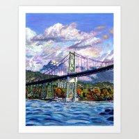 The Lion's Gate, Vancouver Art Print