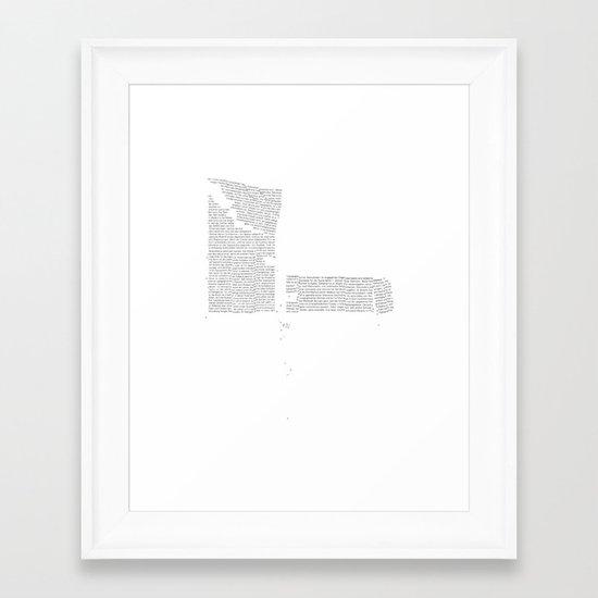 Erosion & Typography 4 Framed Art Print