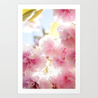 cherry blossom Art Prints featuring Cherry Blossom by 2sweet4words Designs