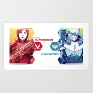 Mass Effect : Shep & Gar… Art Print