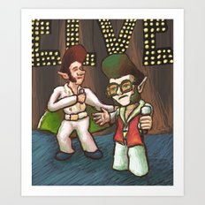 ELVES! Art Print