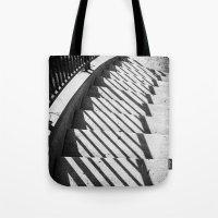 Stairway Shadows Tote Bag