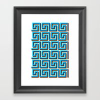 Pixel Wave No.2 Framed Art Print