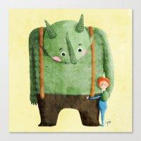 Dear Troll Canvas Print