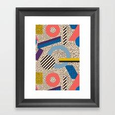 Memphis Inspired Pattern 3 Framed Art Print