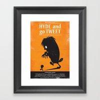 Hyde And Go Tweet Framed Art Print