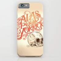 iPhone & iPod Case featuring Hamlet Skull by Rachel Caldwell