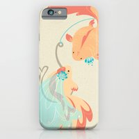 iPhone Cases featuring WHAT A CATCH WEDDING PRINT by Fez Baker