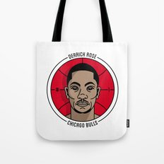 Derrick Rose Badge Illustration Tote Bag