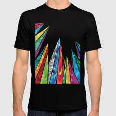 Up to the mountains Mens Fitted Tee SMALL Black