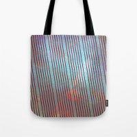 Red stripes on grunge background Tote Bag