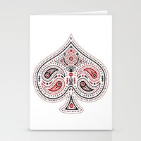 83 Drops - Spades (Red & Black) Stationery Cards