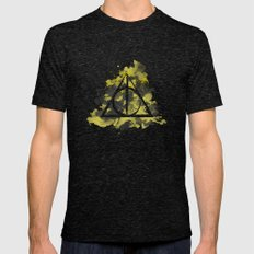 The Deathly Hallows (Hufflepuff) Mens Fitted Tee Tri-Black SMALL