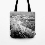 Winter Mountain Range Tote Bag