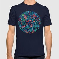 Tropical Ink - A Waterco… Mens Fitted Tee Navy SMALL