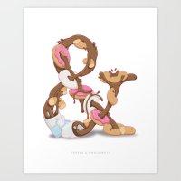 Coffee & Doughnuts Art Print