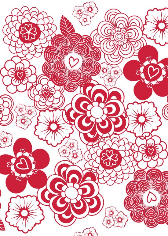 giving hearts giving hope: red garden Art Print