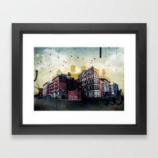 A New York City Street Framed Art Print