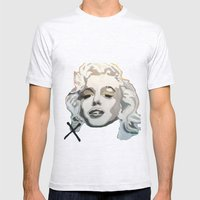 Marilyn Blonde Bombshell Mens Fitted Tee Ash Grey SMALL