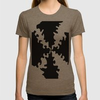 Puzzle Womens Fitted Tee Tri-Coffee SMALL
