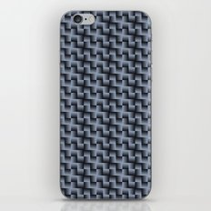 Woven Tiles Grey iPhone & iPod Skin